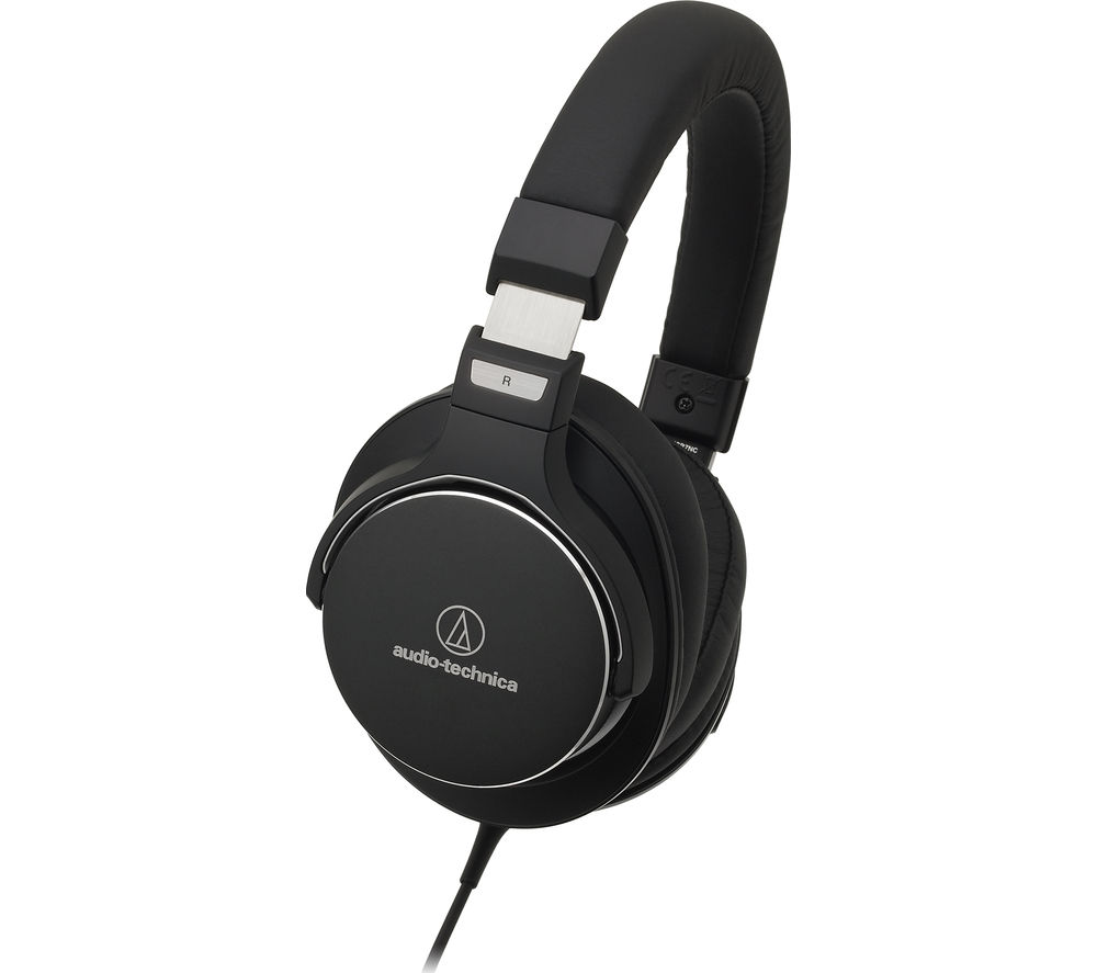 Click to view more of AUDIO TECHNICA  ATH-MSR7NC Noise-Cancelling Headphones - Black, Black