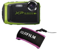 FUJIFILM XP90 Tough Compact Camera - Black & Green