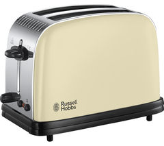 RUSSELL HOBBS Colours Plus 23334 2-Slice Toaster - Cream
