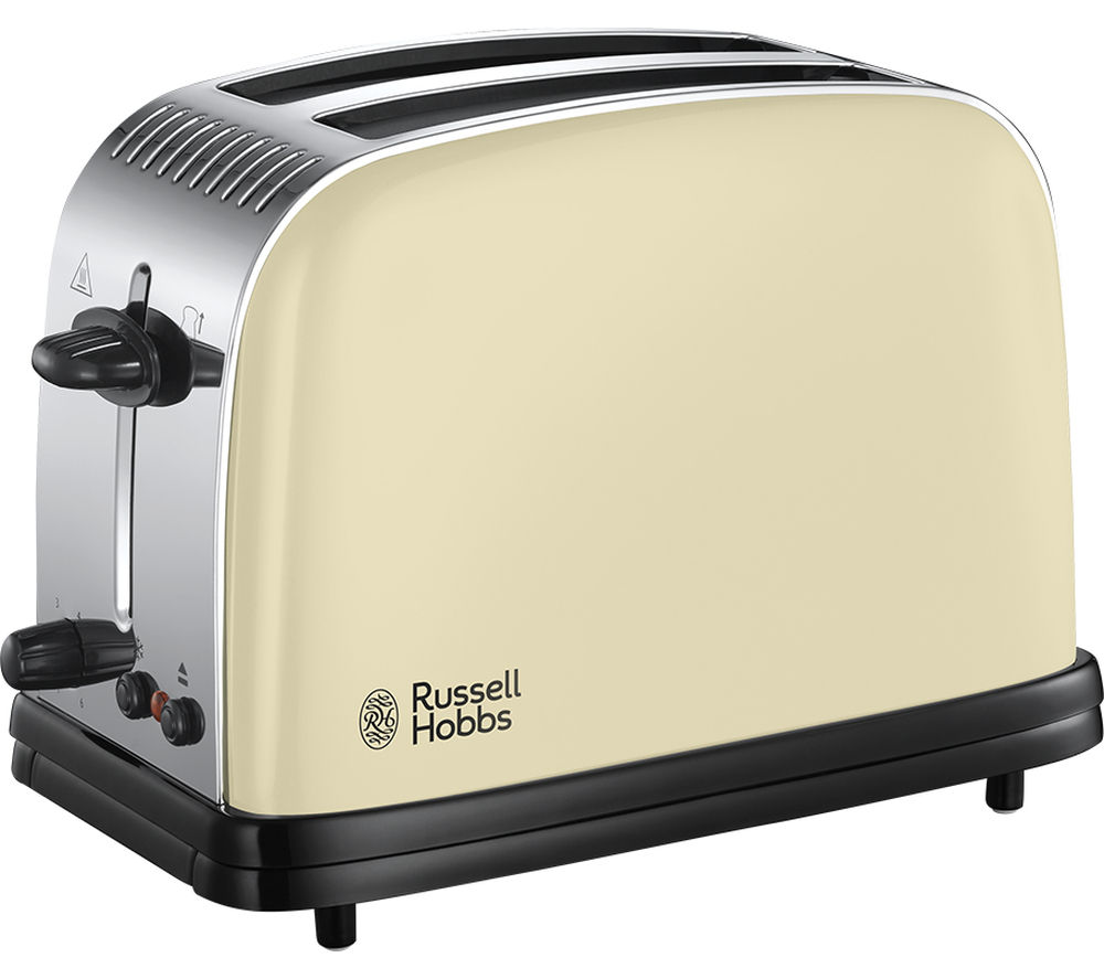 buy russell hobbs colours plus 23334 2 slice toaster cream free delivery currys. Black Bedroom Furniture Sets. Home Design Ideas
