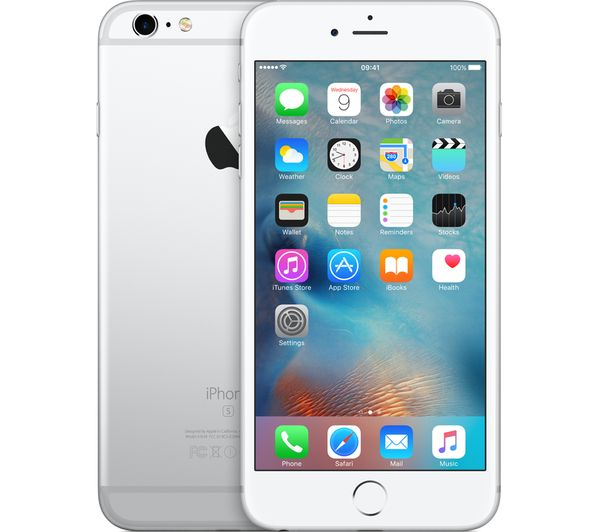 buy apple iphone 6s plus 32 gb silver free delivery currys. Black Bedroom Furniture Sets. Home Design Ideas