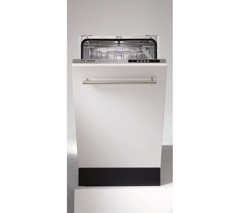 Image of SHARP QW-S32I471X Slimline Integrated Dishwasher