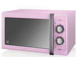 SWAN Retro SM22070PN Solo Microwave - Pink