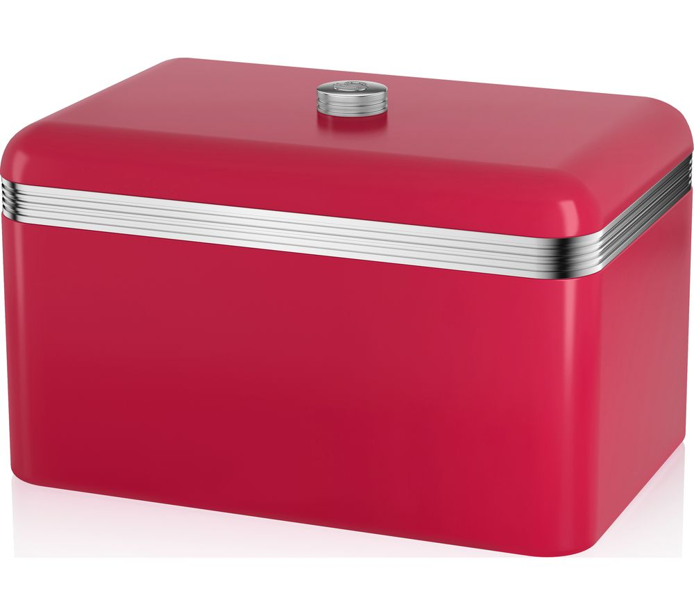 Buy SWAN Retro Bread Bin - Red