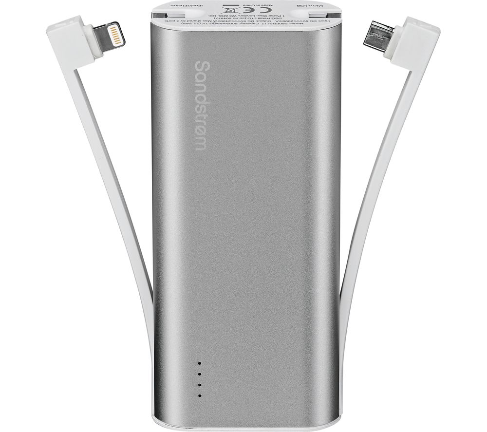 SANDSTROM S60PBSL17 Portable Power Bank - Silver