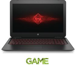 "HP Omen 15-ax250na 15.6"" Gaming Laptop - Black"