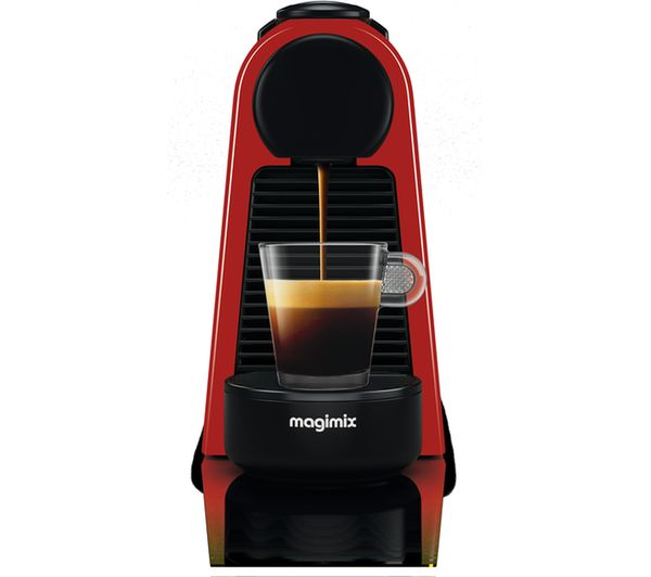 buy nespresso by magimix essenza mini coffee machine ruby red free delivery currys. Black Bedroom Furniture Sets. Home Design Ideas