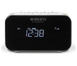 ROBERTS ORTUS1 DAB+/FM Clock Radio - White