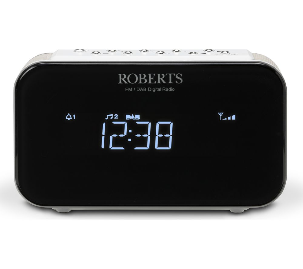 buy roberts ortus1 dab fm clock radio white free delivery currys. Black Bedroom Furniture Sets. Home Design Ideas