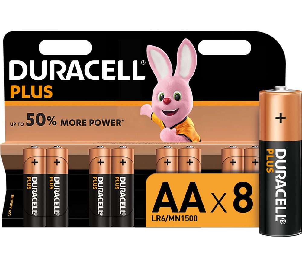 duracell lr6 mn1500 plus power aa alkaline batteries deals pc world. Black Bedroom Furniture Sets. Home Design Ideas