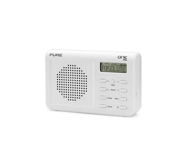 buy pure one mi portable dab radio white free delivery. Black Bedroom Furniture Sets. Home Design Ideas