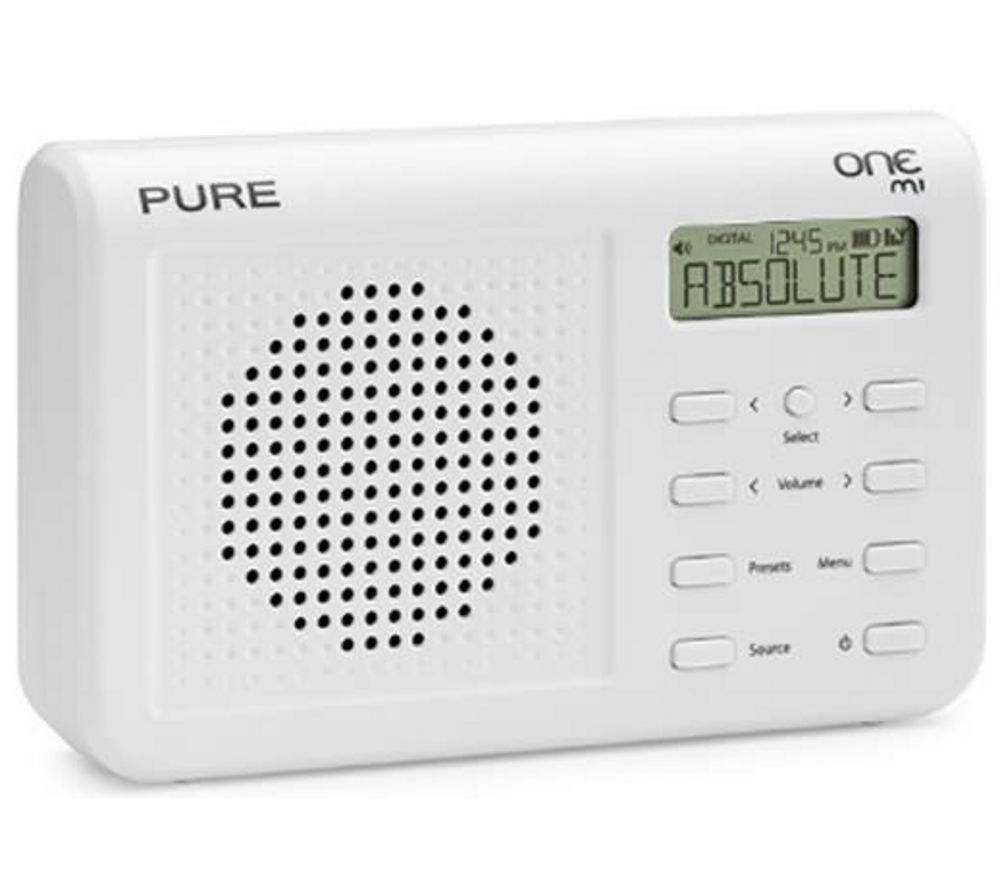 PURE One Mi Portable DAB Radio - White