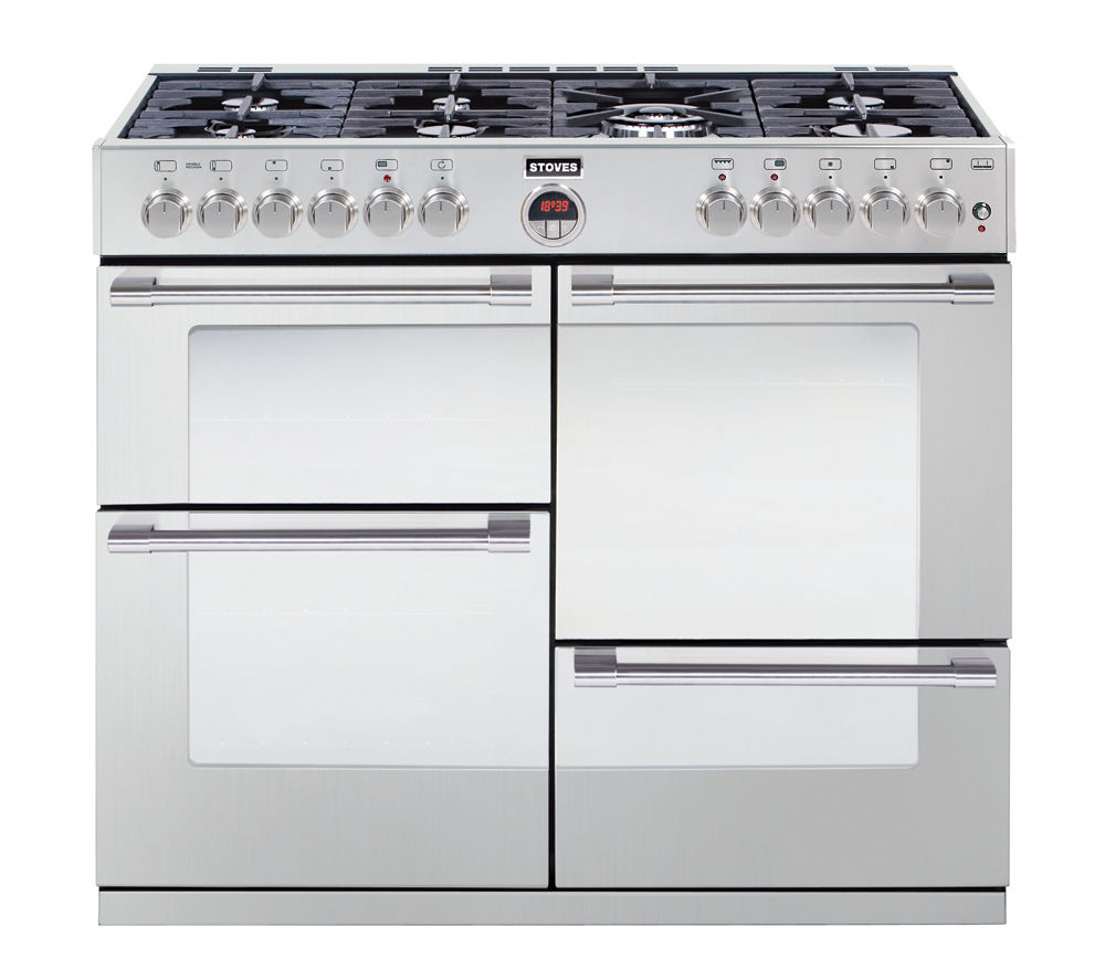 buy stoves sterling r1100dft dual fuel range cooker. Black Bedroom Furniture Sets. Home Design Ideas