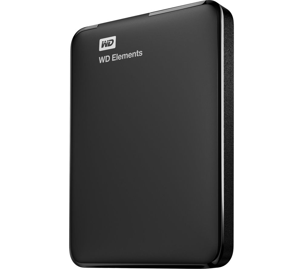 WD Elements Portable Hard Drive - 2 TB, Black