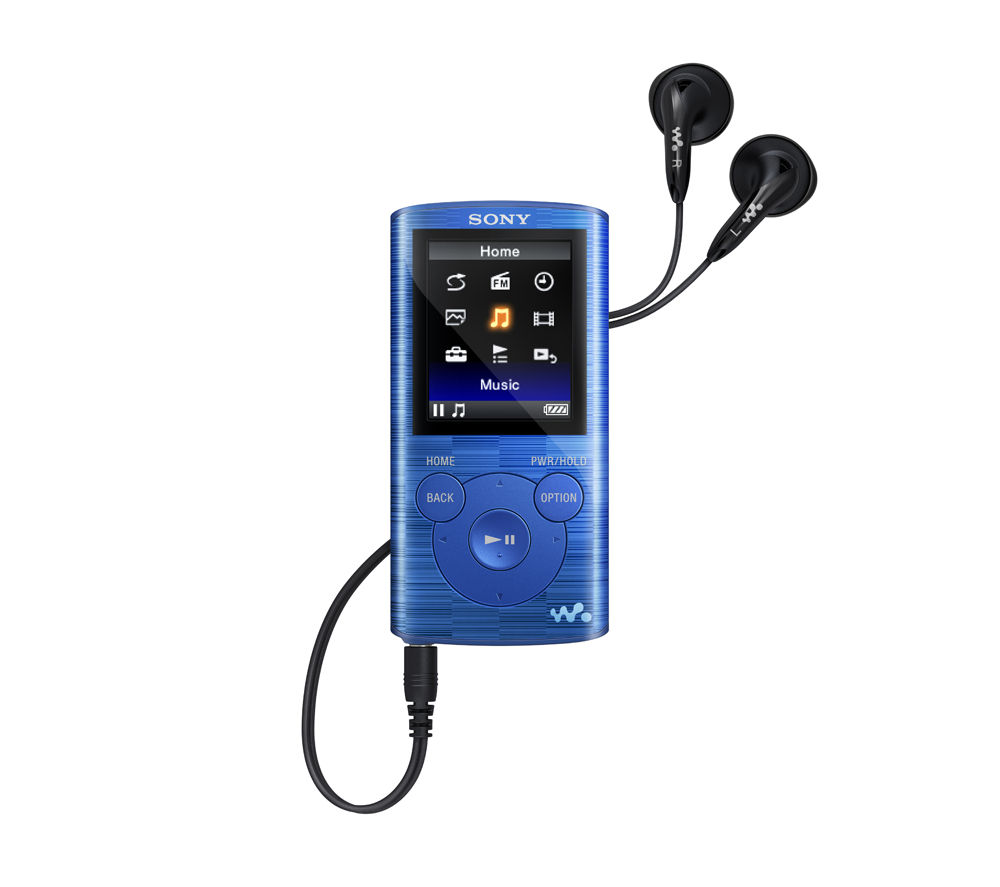 SONY NWZ-E384L 8 GB MP3 Player with FM Radio - Blue