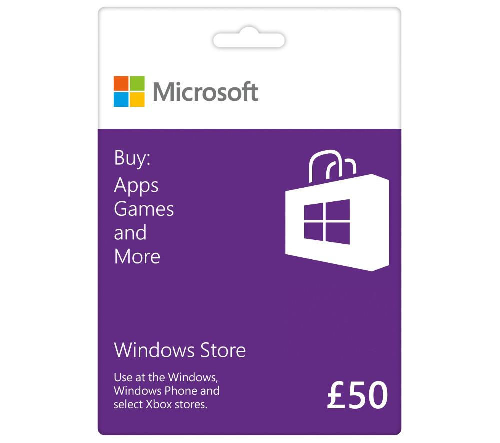 MICROSOFT Windows Store Gift Card - £50