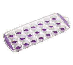 COLOURWORKS 21 Hole Ice Cube Tray - Purple