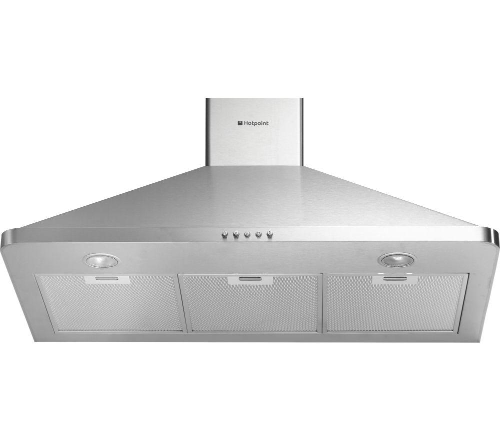 HOTPOINT HHP95CM Chimney Cooker Hood - Stainless Steel