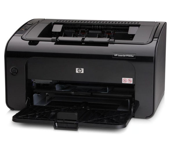 hp laserjet pro p1102w wireless monochrome laser printer. Black Bedroom Furniture Sets. Home Design Ideas
