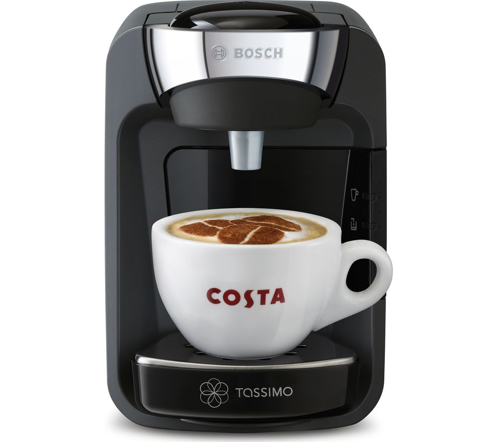 TASSIMO by Bosch Suny TAS3202GB Hot Drinks Machine - Black + Costa Americano T Discs - Pack of 16