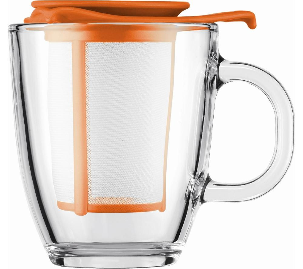 BODUM  Yo Yo Mug & Tea Strainer Set  Orange Orange