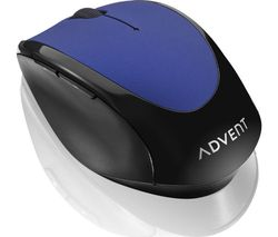 ADVENT AMWLBL15 Wireless Optical Mouse - Blue