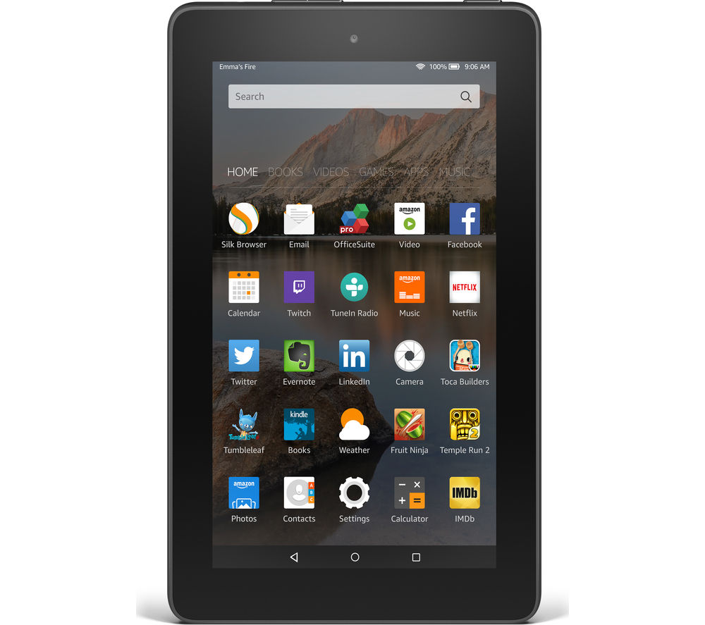 "Image of Amazon Fire 7"" Tablet - 8 GB, Black, Black"