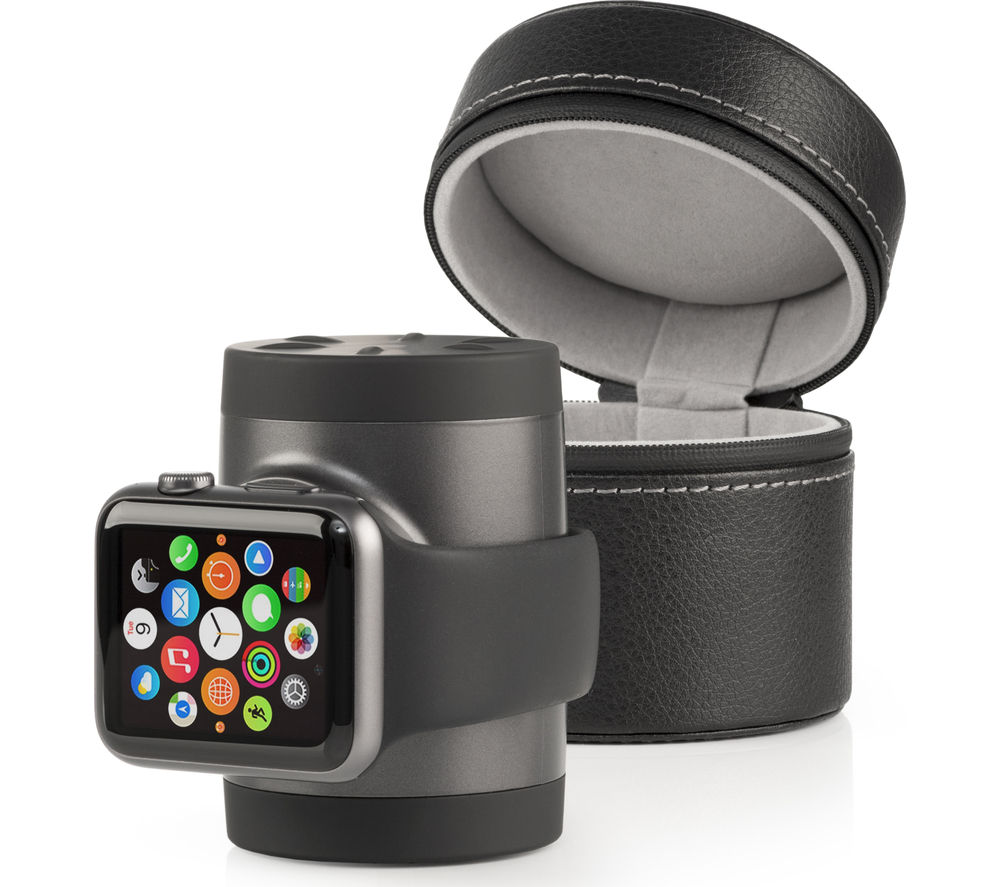 TECHLINK Recharge 1000 Apple Watch Case & Charger - Black & Graphite