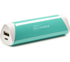 TECHLINK Recharge 2600 Portable Power Bank - Turquoise