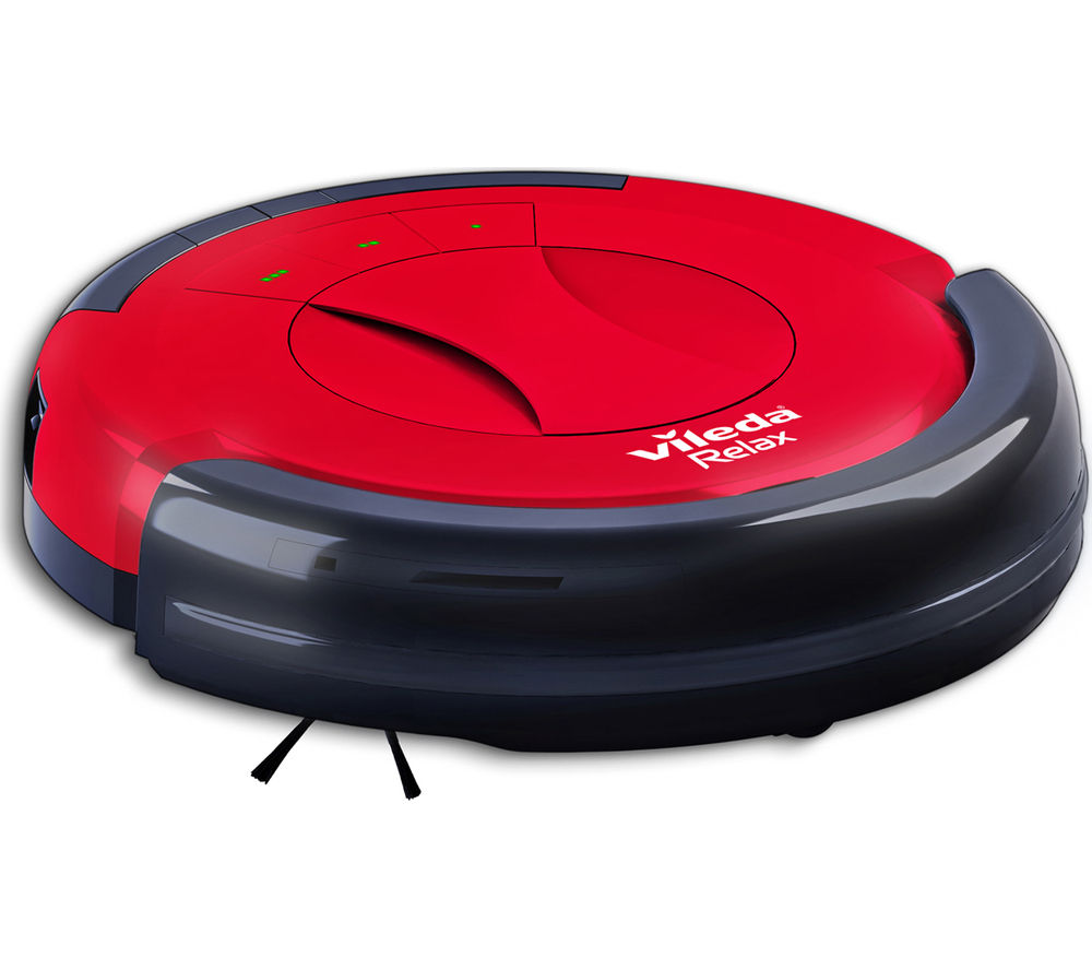 VILEDA  145096 Relax Robot Vacuum Cleaner  Red & Black Red