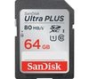 SANDISK Ultra Plus Class 10 SD Memory Card - 64 GB