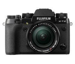 FUJI X-T2 Compact System Camera with 18-55 mm f/2.8 Standard Zoom Lens - Black