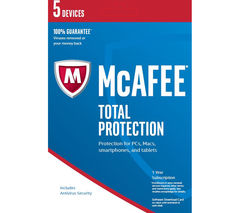 MCAFEE Total Protection 2017 - 5 users for 1 year