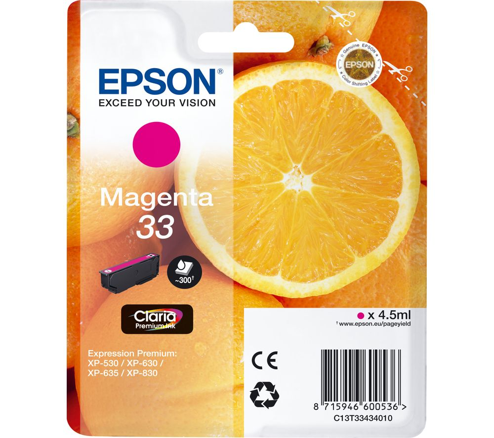 EPSON No. 33 Oranges Magenta Ink Cartridge