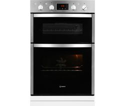 INDESIT Aria DDD5340CIX Electric Built-in Double Oven - Stainless Steel