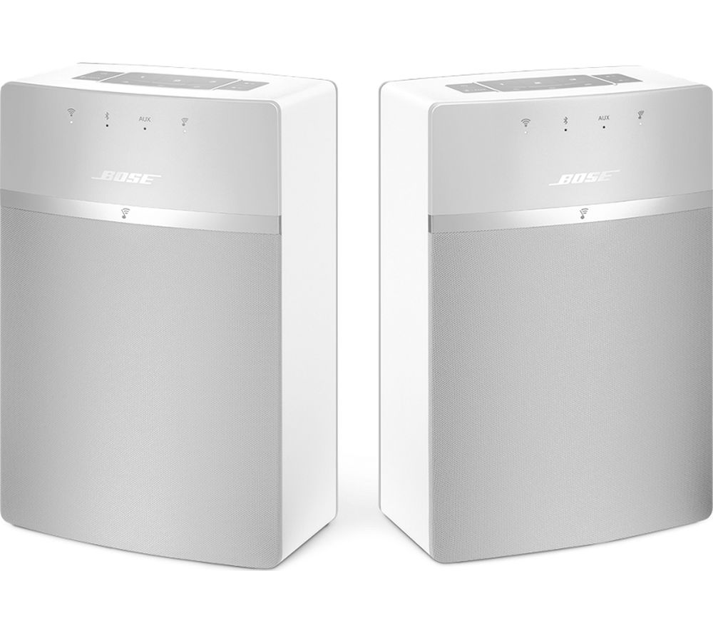 Click to view more of BOSE  SoundTouch 10 Wireless Smart Sound Multi-Room Speakers - Set of 2, White, White