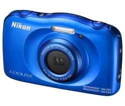 NIKON COOLPIX W100 Tough Compact Camera - Blue