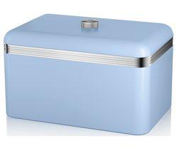 SWAN Retro Bread Bin - Blue