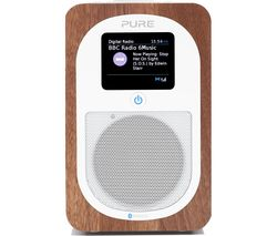 PURE Evoke H3 Portable DAB/FM Bluetooth Clock Radio - Walnut