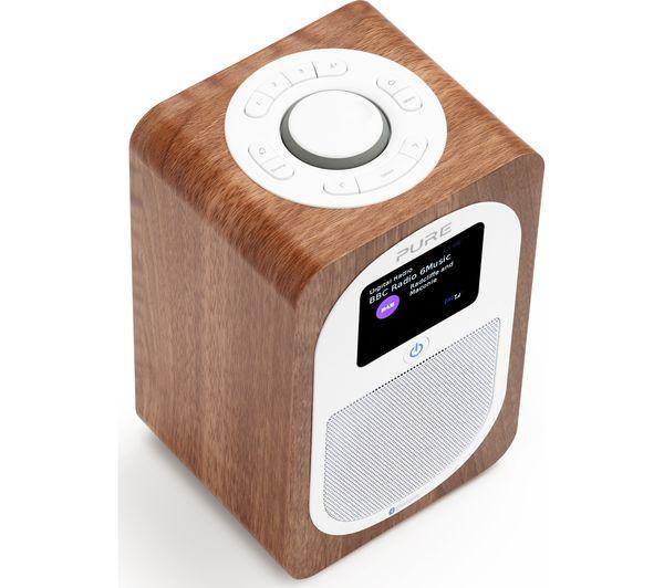 buy pure evoke h3 portable dab fm bluetooth clock radio walnut free deliv. Black Bedroom Furniture Sets. Home Design Ideas