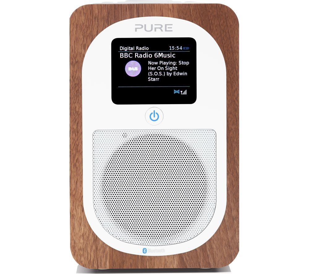 PURE Evoke H3 Portable DAB/FM Bluetooth Clock Radio - Walnut.