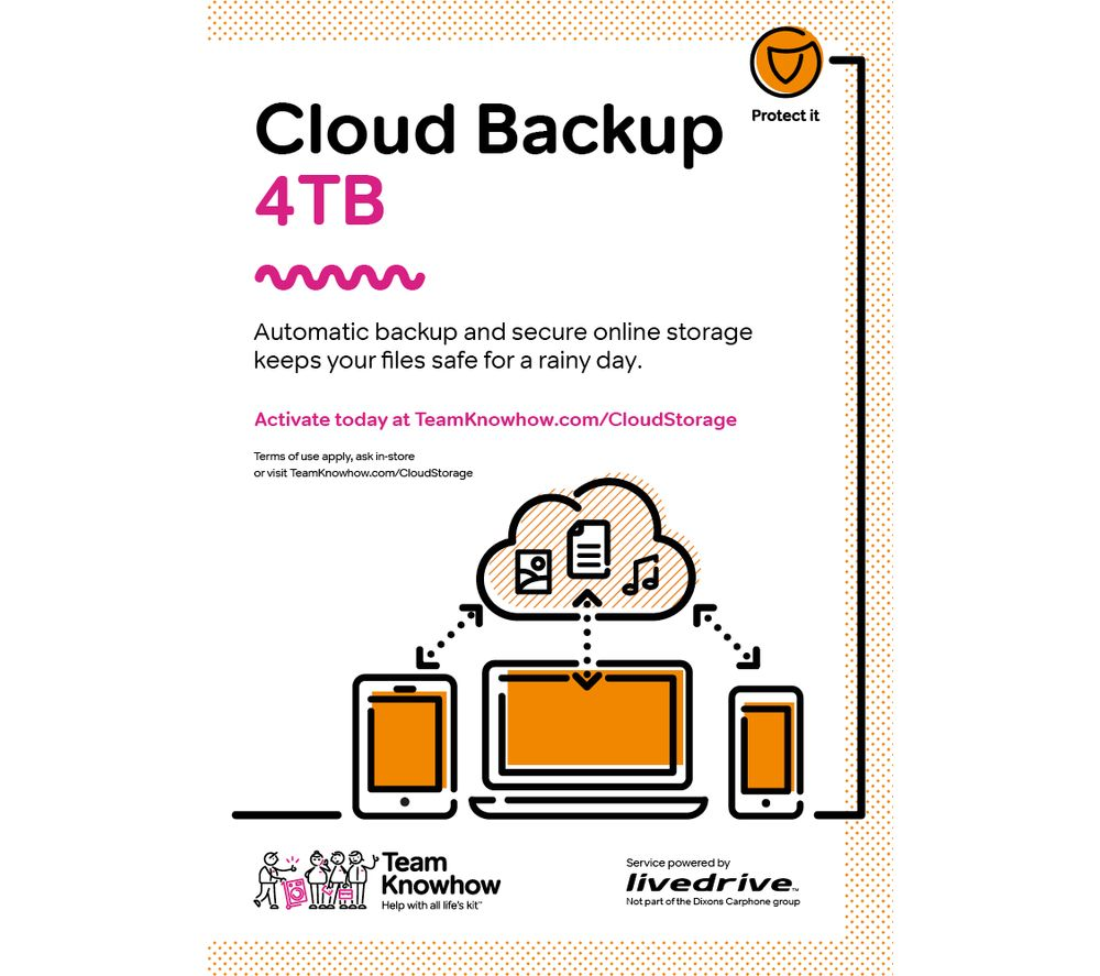 KNOWHOW Cloud Storage 4 TB Computer Backup & Share Service