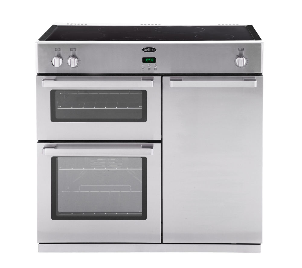 BELLING DB4 90Ei Electric Induction Range Cooker - Stainless Steel