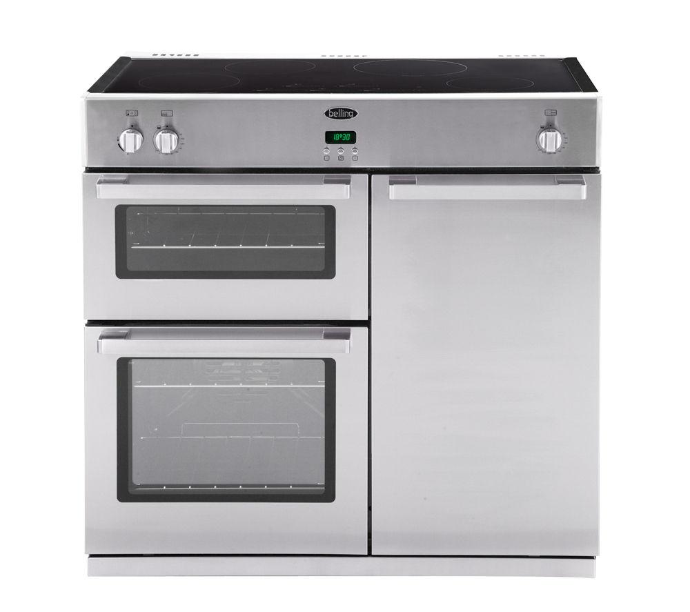 buy belling db4 90ei electric induction range cooker. Black Bedroom Furniture Sets. Home Design Ideas