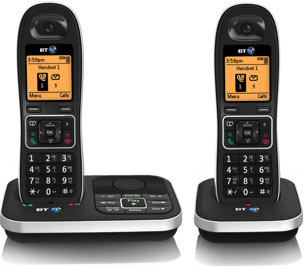 BT  7610 Cordless Phone with Answering Machine  Twin Handsets