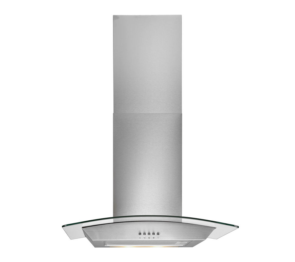 LOGIK L60CHDG14 Chimney Cooker Hood - Stainless Steel