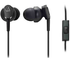 AUDIO TECHNICA QuietPoint ATH-ANC33iS Noise-Cancelling Headphones - Black