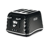DELONGHI Brillante CTJ4003.BK 4-Slice Toaster - Black