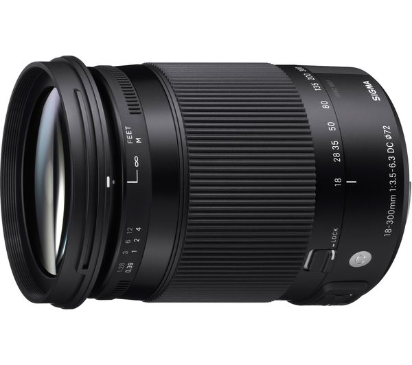 Image of SIGMA 18-300 mm f/3.5-6.3 DC HSM OS Telephoto Zoom Lens with Macro - for Canon