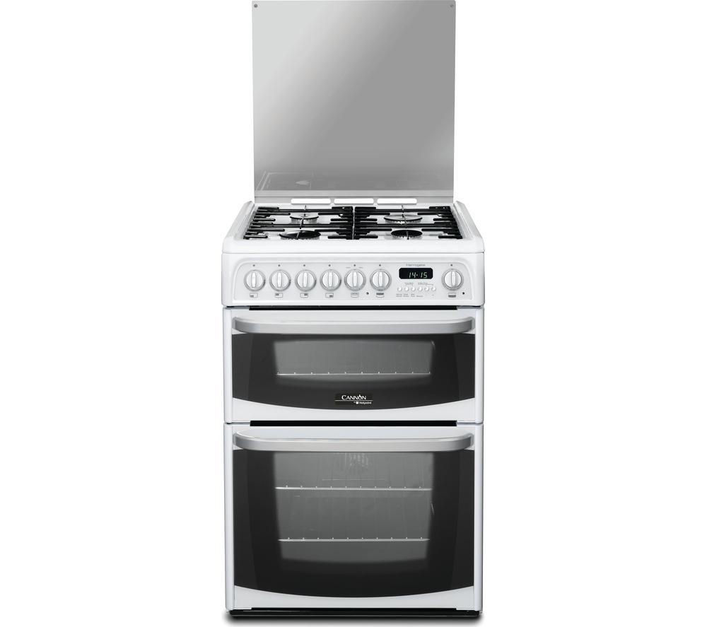 buy cannon ch60dhwfs dual fuel cooker white free. Black Bedroom Furniture Sets. Home Design Ideas